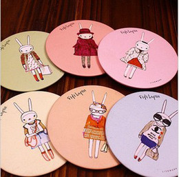 Wholesale Sweet cute cartoon small women cosmetic mirror Many design
