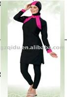 Wholesale 2013 hot selling muslim women modest swimwear for beach wear islamic Long sleeve swimwear beachwear