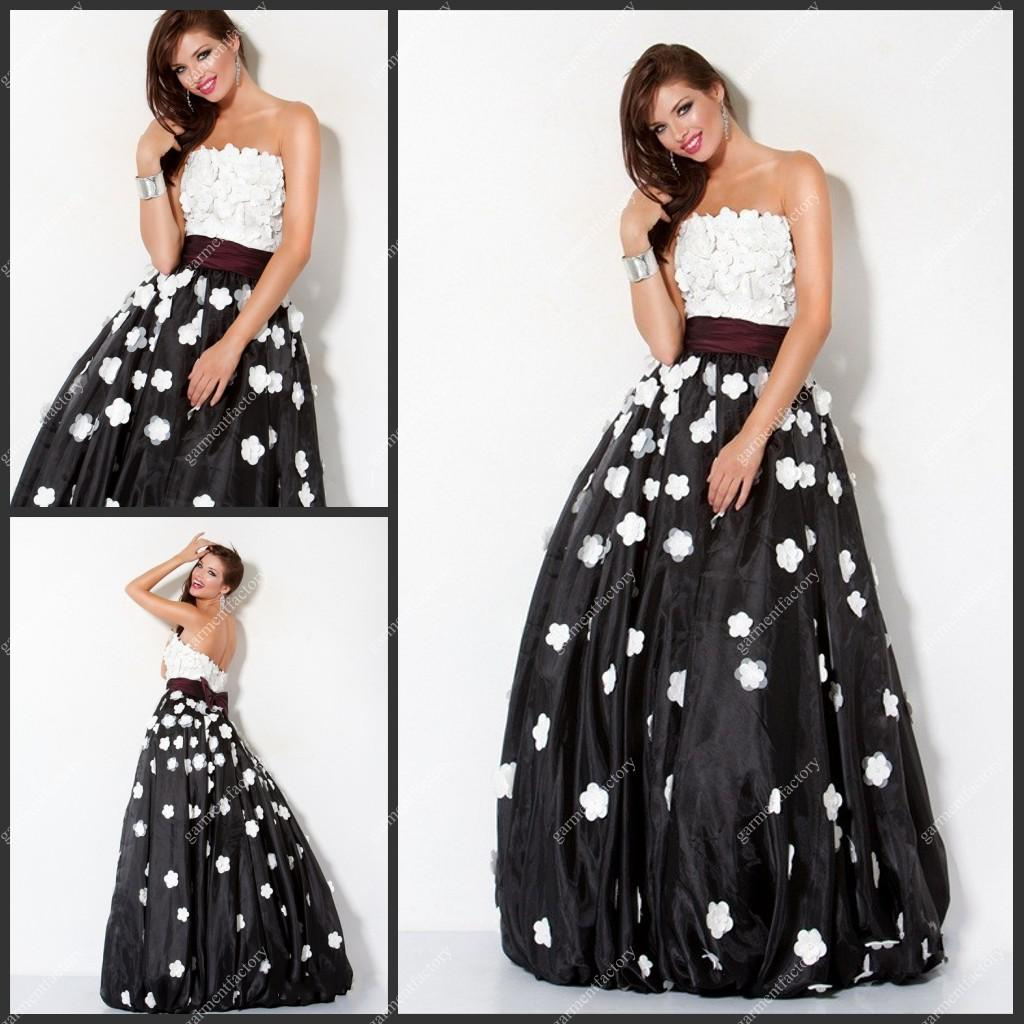 Black and White Ball Gown Dresses | Gowns Ideas
