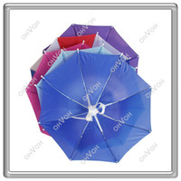Wholesale S5Q Colors Foldable Golf Fishing Hunting Camping Sun Brolly Umbrella Hat Cap New AAAAZP