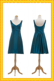 Wholesale Realm Sample Simple Design Pleated Blue Special Price Cheap Bridesmaid Dresses Short Party Dress