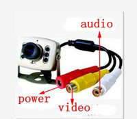 Wholesale 1pcs CMOS Security camera security monitoring camera with audio KM c