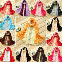 Wholesale Vitage Solid Clolor fold cotton Scarf Long Shawl Scarve Woman s Multicolor Fashion