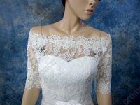 Wholesale Bridal Accesories Lace Vintage Cheap Party Off Shoulder Ivory Alencon Lace Bolero jacket Bridal Bolero Wedding jacket Bolero Bridal Shrug