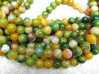 piedra preciosa ágata ónix, ronda bola amarilla verde surtido blanco gergous perlas 12mm - 10strands