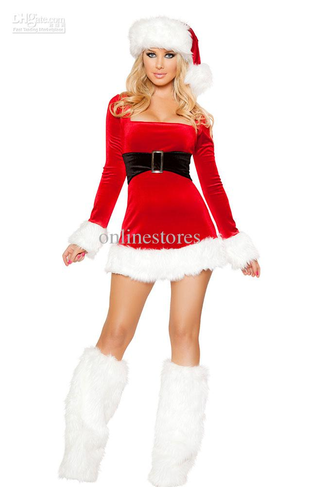 Mrs santa claus dress costume sexy christmas