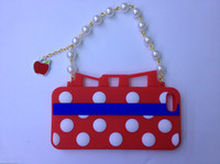 Wholesale Polka Dots Handbag Silicone Case Soft Gel Cover Skin for iphone G th colors
