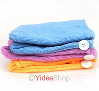 Wholesale All purpose Free Ship Magic Microfibre Hair Drying Wrap Towel Turbie Turban Hat Cap