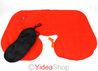 Wholesale All purpose Inflatable Travel Set Neck Pillow Head Rest Cushion Support Mask Ear Plug