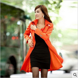 Wholesale New Fashion Slim Long Double breasted Women s Trench Coats Women s coat