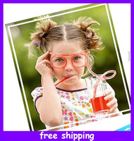 Wholesale Hot creative wacky crazy straw glasses straw fun glasses straw novelty item cm for christmas gift
