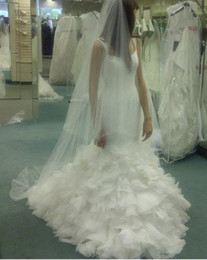 Wholesale Custom make Georgette Mermaid Gown with Dramatic Organza Skirt Style VW351136