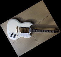 Solid Body 6 Strings Mahogany 20101216 NEW RARE Elliot Easton SG CustomElectric Guitar 3 pickups Mahogany body white