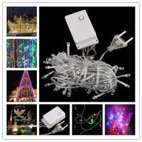 Wholesale DHL Get it M LED V Steady On Bulb String Light For Christmas Party Hung on Garden