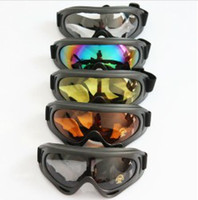 Wholesale XMAS New Protect Motor Motorcycle Goggles Colored Sunglasses Scooter Moto Glasses Skiing glasses