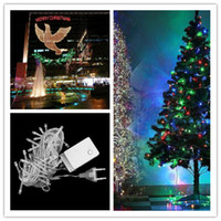Wholesale DHL days got Warm White LED String M Lights flash light Christmas party Fairy wedding lamps