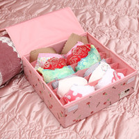 Wholesale Folding Underwear bra storage boxes can be washed cases