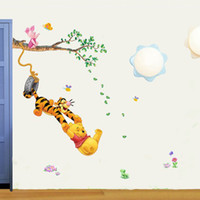 Wholesale Wall Stickers Winnie the Pooh amp Tigger Art Wall Paper Sticker Decal
