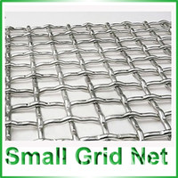Wholesale Chrome Plating Barbecue Piece Small Grid Net Barbecue Accessories Silver