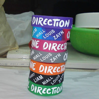 Wholesale 100pcs Hot Rainbow One Direction Bracelet D Band Concert Wristband camouflage silicone bracelet
