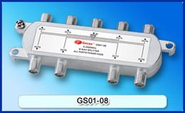 Suitable for SATV, SAT 8-Way Splitter, Satellite Splitter, Free Shipping