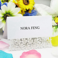 Wholesale Clara White Laser Cut Wedding Place Card Cards Holder