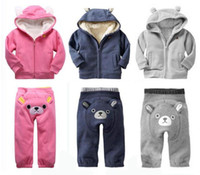 Wholesale 2012 winter children sherpa thicken clothing set warm hoodies pant embroidery colors sizes A50