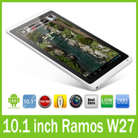 Wholesale 10 inch Android Tablet PC Ramos W27 Dual Core GB RAM GB HDD x600 Wifi OTG Free DHL Shipping