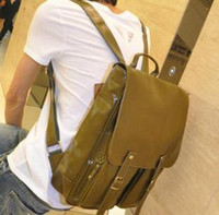 Wholesale 2012 leather backpack hot selling fashionable casual preppy style male backpack