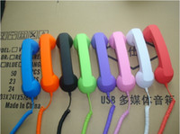 Wholesale FOr Apple iPhone G S Mobile Phon High Quality Retro Telephone Handset Handheld Receiver Free Ship