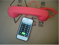 Wholesale FOr Apple iPhone G S High Quality Retro Telephone Handset Handheld Receiver for Mobile Phone