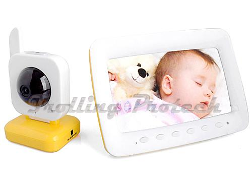 2017 wireless nightvision ir baby monitor vox two way audio motion detection 7 inch lcd screen. Black Bedroom Furniture Sets. Home Design Ideas