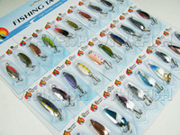 Wholesale Promotion of Pack set Spinner Spoon Assorted Fishing Lures On Card Baits SET KIT