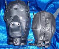 Unisex balls doggie - BDSM FATORY Black Soft Black PU Doggie Hood