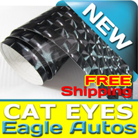 Wholesale Cat Eyes Vinyl Wrap Stickers Wrapping Decals Sticker Film for Suzuki Yamaha All Cars Car Decoration Accessories x30Meter Black