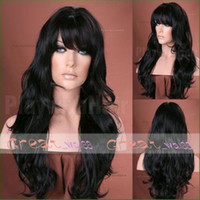 Wholesale Sexy Indian Remy Human Hair Lace Front Wigs Body Wave inch Ladies Hair Wigs DHL Free