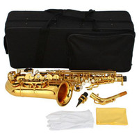 Wholesale Free Ship From USA Stylish Mid range Alto Drop E Paint Gold Saxophone Brand New