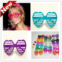 Wholesale Fashion heart shape Shutter Glasses Shades Sunglasses Dances party shutter glasses per