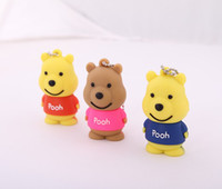 Wholesale Winnie the Pooh Shape really capacity GB GB G USB Flash Memory Stick Drive Xmas gift