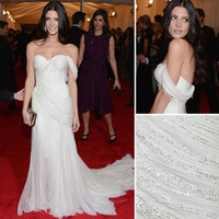 ashley greene - Ashley Greene Stunning Ivory Mermaid Celebrity Gown At Met Gala Red Carpet Formal Evening Dresses