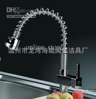 Wholesale Kitchen Faucets Quartet pulling Spring kitchen faucet Farm sink faucet Hot and cold mixing faucet