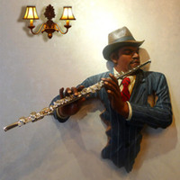 Wholesale flute player decor wall decor coffeehouse decoration pup decoration