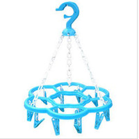 Wholesale 16 head quincunx clothespin laundry clamp clotheshorse clothes horse clothes socks sun clamp C033
