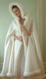Wholesale 2013 Hot Sale Elegent Bridal Capes Ivory Wedding Cloaks Faux Fur For Winter Weddings Bridal Cloaks