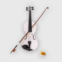 Wholesale 4 Size White Acoustic Violin Case Bow Rosin New and High Quality Violin Ship From USA Y00272