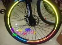 al por mayor 16 ruedas de bicicleta calientes-4pcs moto bicicleta bicicleta de coche ruedas calientes reflexivo pegatinas llantas adhesivas reflexivas