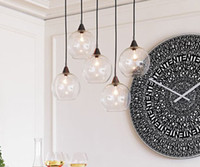 Modern art glass balls - Nordic Modern Minimalist Creative Glass Ball Chandelier Dining Room Living Room Pendant Lamp