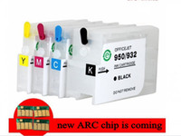 Wholesale New HP950 HP951 refillable ink cartridge with ARC for HP Officejet Pro printer