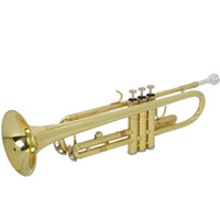 Wholesale Free Ship From USA Golden Drop B Adjustable Trumpet Paint Gold