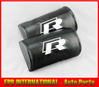 Wholesale R Line Carbon Fiber Headrest Head Rest Pillow VW GTI GOLF CC
